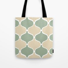 MARRAKECH Sand Green Tote Bag