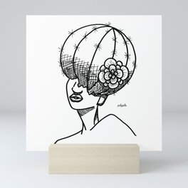 Cactus Head Pot, Flower & Fro by Pablo Rodriguez (Pabzoide) Mini Art Print