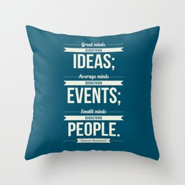 Lab No. 4 - Eleanor Roosevelt Typography Print art Inspirational Quote Poster Throw Pillow