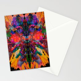 Dew Drop Rainbow Flower Stationery Cards