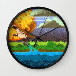 Osprey River Hunt Wall Clock