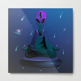 space meditation Metal Print