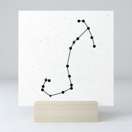 SCORPIO (WHITE & BLACK) Mini Art Print