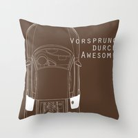audi Throw Pillows featuring Vorsprung Durch Awesome by Salmanorguk
