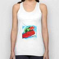 chameleon Tank Tops featuring Chameleon by TheMartianPotato