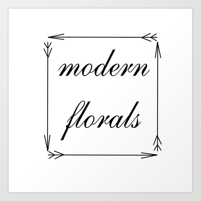 modern florals and arrows . Artwork / graphic Art Print