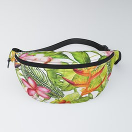 My Aloha Tropical Flower Hibiscus Garden Fanny Pack