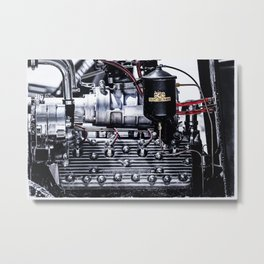 Offenhauser Flathead Engine Metal Print