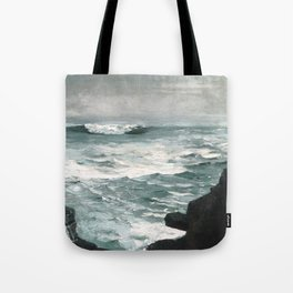 A visit to Winslow Homer's Cannon Rock Tote Bag