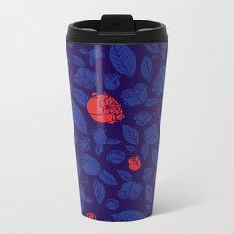 Briar Rose Navy Metal Travel Mug