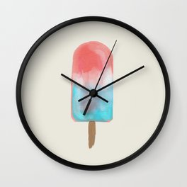 A Colorful Popsicle Wall Clock