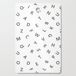 The Missing Letter Alphabet W&B Cutting Board