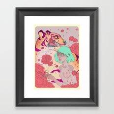 Tiger Blossom Framed Art Print