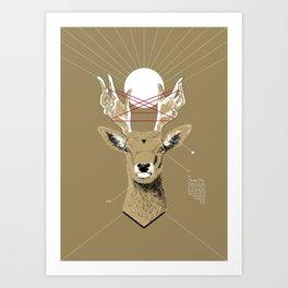 Sacred Deer Art Print