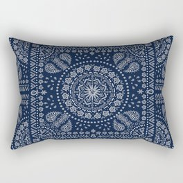 Zendana Navy Bandana Rectangular Pillow