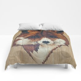 Fox marquetry art picture Comforters