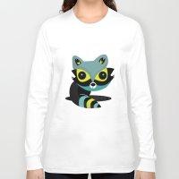 raccoon Long Sleeve T-shirts featuring Raccoon by Maria Jose Da Luz