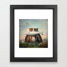 Enjoy Your Dinner Framed Art Print