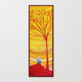 Happy Critter Tree no. 8 Canvas Print