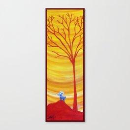 Happy Critter Tree no. 8 Canvas Print