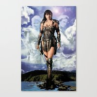 xena Canvas Prints featuring Xena: Warrior Princess by SB Art Productions