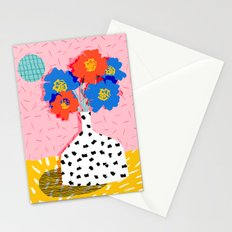In There - throwback retro still life flower vase abstract minimal dots painting flower florals Stationery Cards