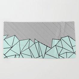 Ab Lines 45 Mint Beach Towel