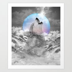 Maybe the Wolf Is In Love with the Moon / Unrequited Love Art Print