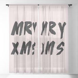Merry Christmas 2017 Sheer Curtain