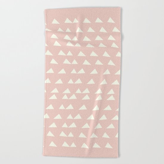 Scattered Triangles in Blush and Cream by junejournal