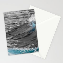 Black and White to Color Wave Stationery Cards