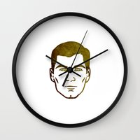 archer Wall Clocks featuring Archer by Spooky Dooky