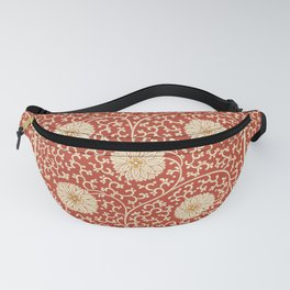70's Red Floral Fanny Pack