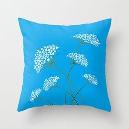 Queen Anne's Lace a Kentucky Wild Flower Throw Pillow