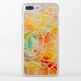 Yellows Clear iPhone Case