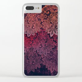 lace garland on black Clear iPhone Case