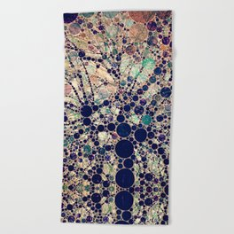 Colorful tree loves you and me. Beach Towel