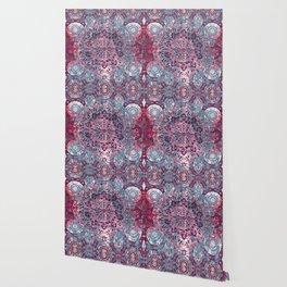 Vintage Boho Burgundy Mandala Wallpaper