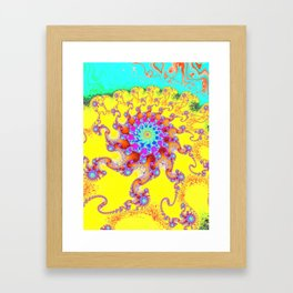 Tropical Octopus Fractal Framed Art Print