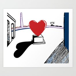 De Chirico and heart Art Print
