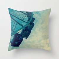 ferris wheel Throw Pillows featuring Ferris Wheel by Tracy Wong