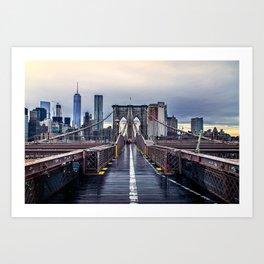 Brooklyn lines Art Print