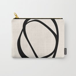 Interlocking Two CB – Minimalist Line Abstract Carry-All Pouch