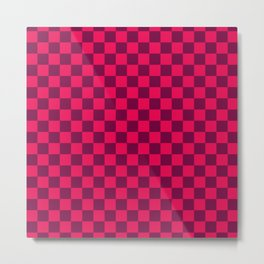 Checkered Pattern IV Metal Print