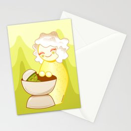 Kokeshis Sweet mother and Little Pistachio Stationery Cards