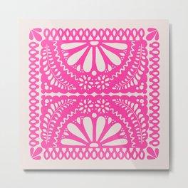 Fiesta de Flores Pink Metal Print