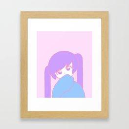 Anime Pastel Girl Framed Art Print