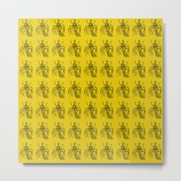 Ancient Arachne Mythical Mythology Color Pattern Metal Print