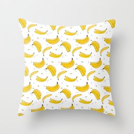 Banana print Throw Pillow
