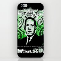 lovecraft iPhone & iPod Skins featuring Mr. Lovecraft by Robert Hoops